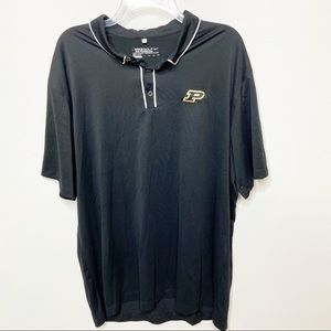 Nike Golf Purdue Black Polo Shirt Dri-Fit